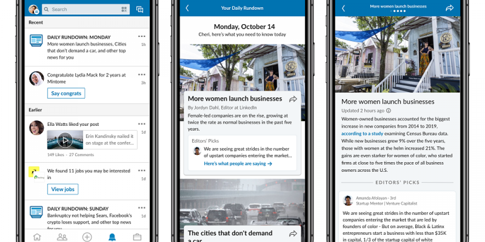 LinkedIn Rolls Out New Format for its 'Daily Rundown' Professional News Updates