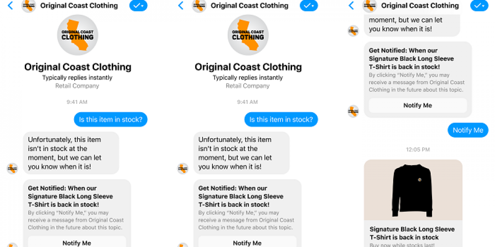 Facebook Adds 'One-Time Notification' API to Messenger for Business