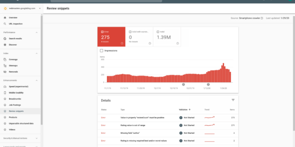 Google Search Console adds review snippets performance, enhancement and testing reports