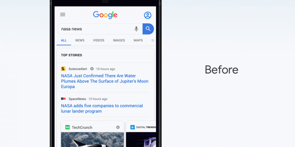 Google adding more news content to 'top stories' in search results