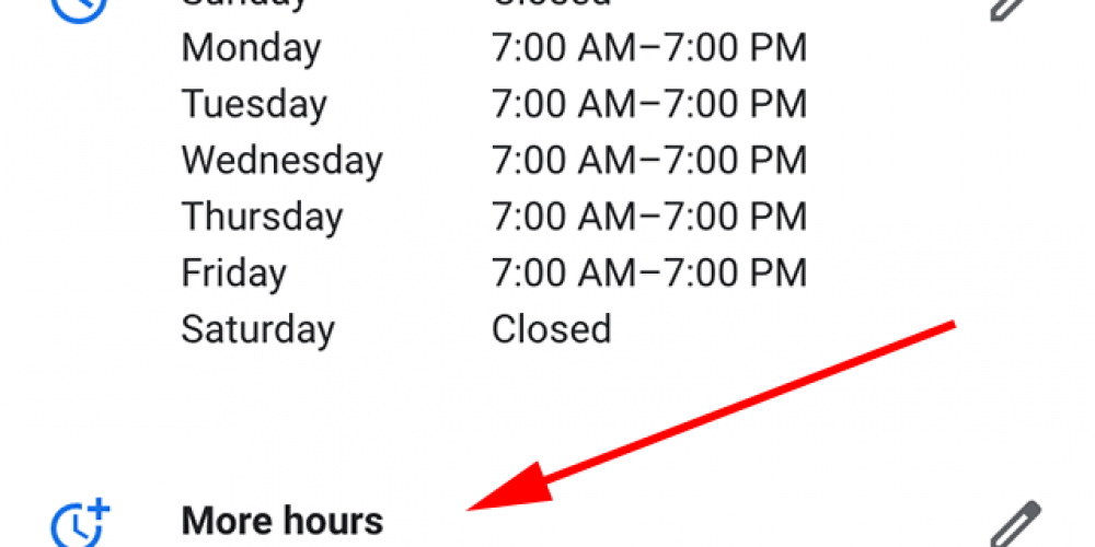 Google My Business offers more flexibility with business hours