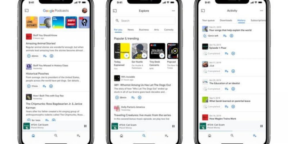 Google Podcasts gets a redesign and iOS rollout