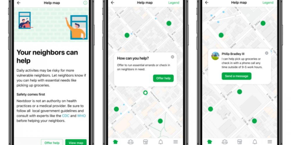 Nextdoor rolls out Groups and Help Map in response to coronavirus outbreak