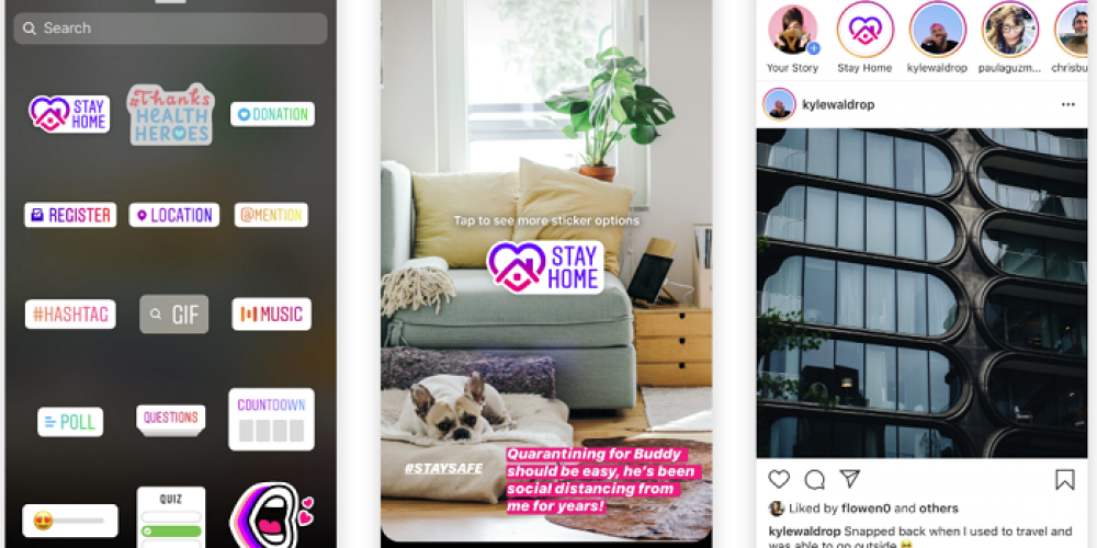 Instagram Launches 'Stay Home' Sticker and Story to Encourage Social Distancing Amid COVID-19 Outbreak