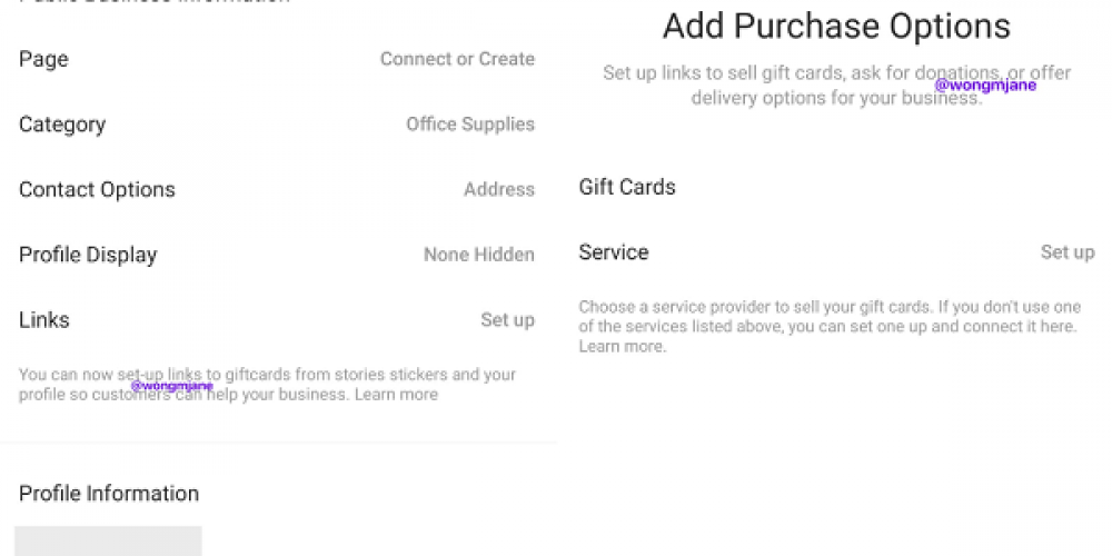 Instagram's Testing a New Option to Promote the Sale of Gift Cards via Your Business Profile