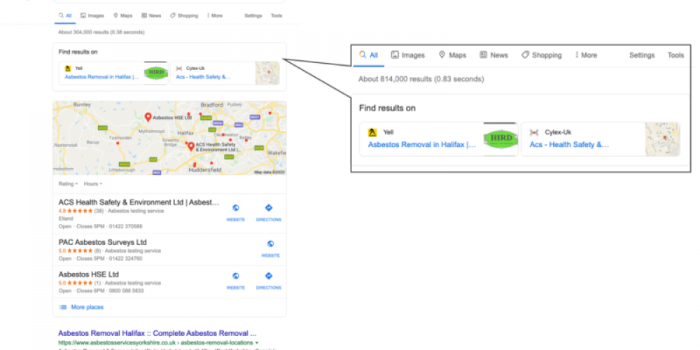 New local SERP live in Europe