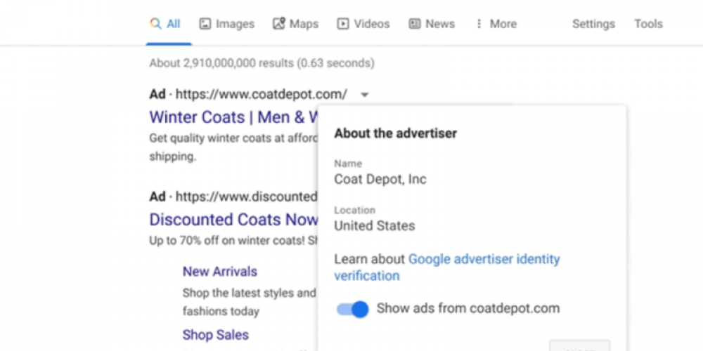 Google will roll out identity verification program to all advertisers