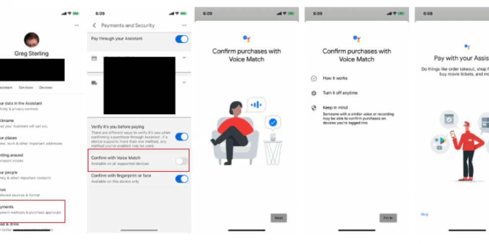 Google Assistant's 'confirm with voice match' gives new meaning to 'contactless payments'