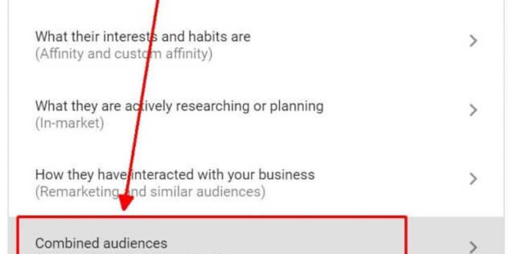 How to use new Google Ads Combined Audiences