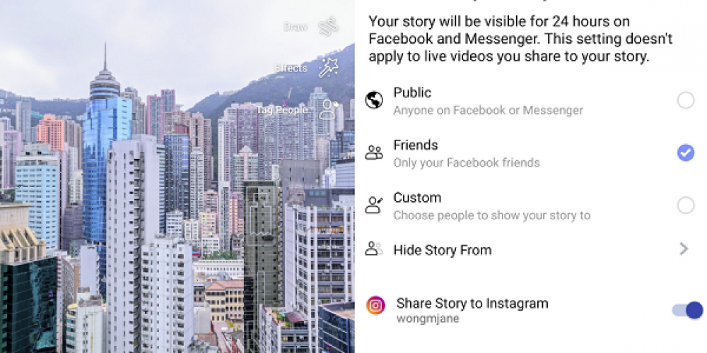 Facebook's Testing a New Option to Cross-Post Facebook Stories to Instagram