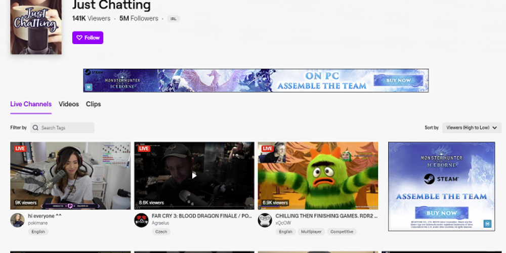 Game Streaming Platform Twitch is Seeing a Significant Rise in Non-Gaming Live-Streams
