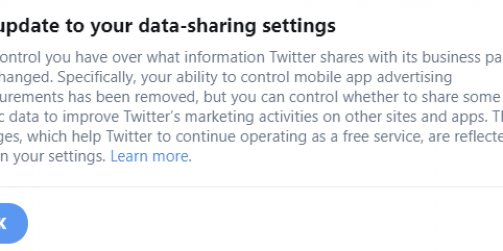 Twitter Updates Data Sharing Policy, Which Will See More User Data Provided for Advertising Purposes
