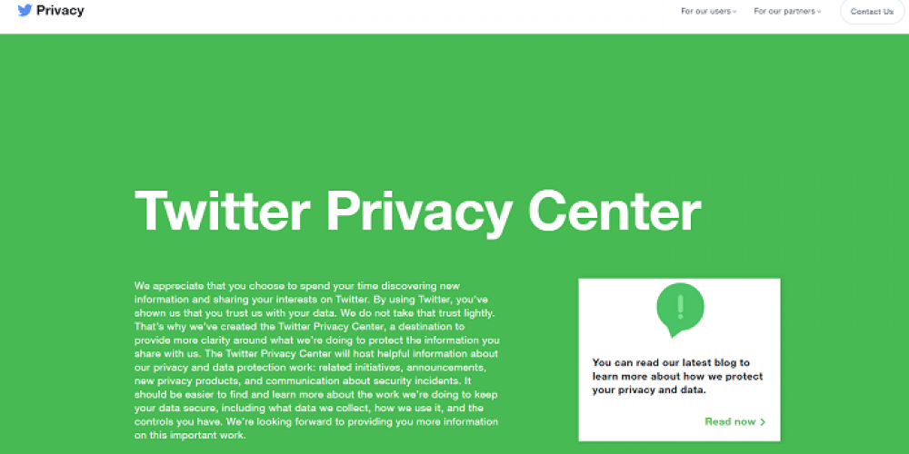 Twitter Launches New Privacy Center to Better Communicate Platform Rules and Processes
