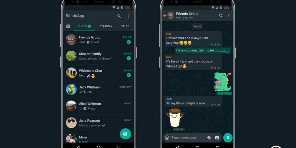 Facebook Finally Launches Dark Mode for WhatsApp