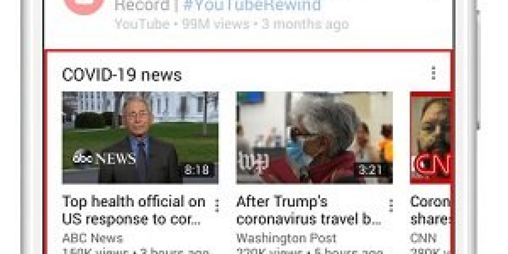 YouTube Reduces Streaming Quality to Reduce Network Load, Adds New COVID-19 Info Panel