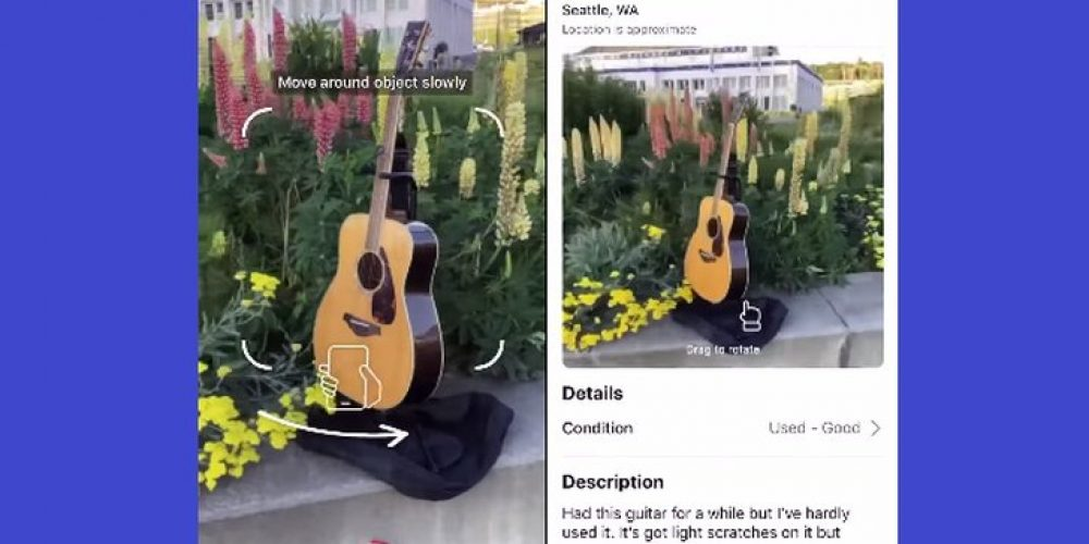 Facebook Tests 3D Product Images in Marketplace Among Advanced AI and AR Shopping Initiatives