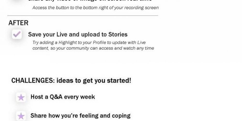 Instagram Provides Tips on Maintaining Connection via Instagram Live During COVID-19 Lockdowns [Infographic]