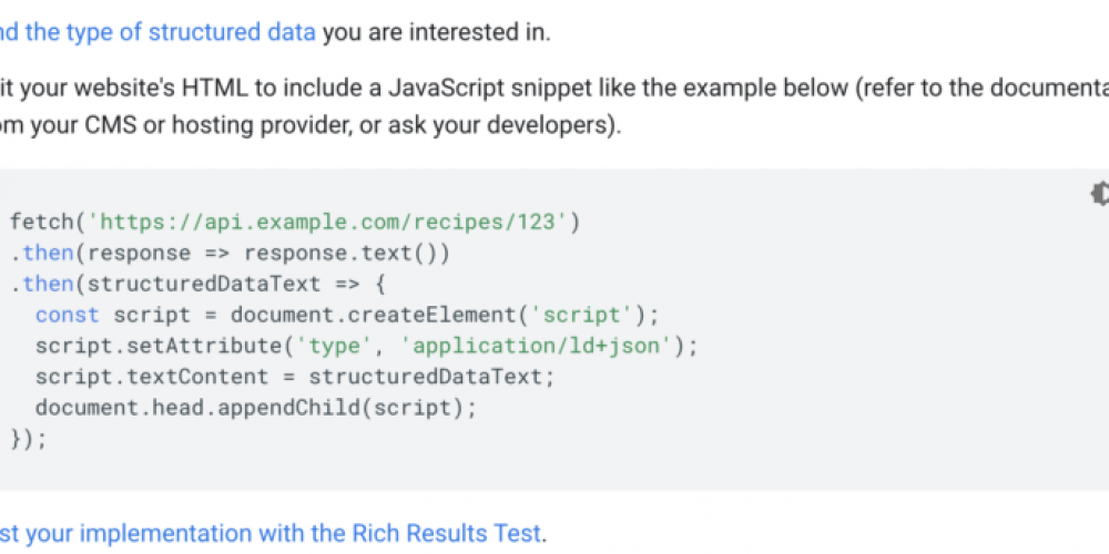 New official Google advice on generating structured data with JavaScript