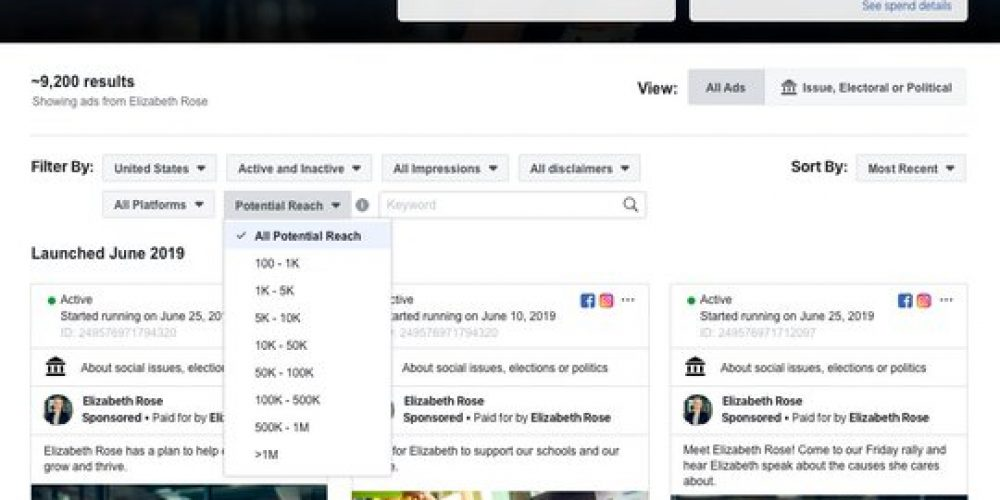 Facebook Adds New Metrics to its Ad Library Listings to Improve Transparency