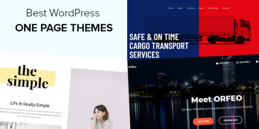 25 Best One Page WordPress Themes (2020)