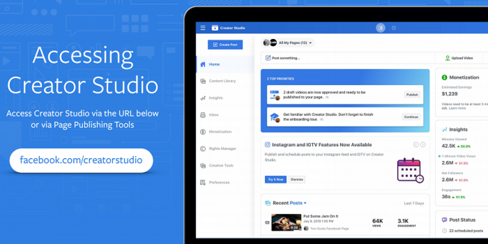 A Guide to Facebook's Creator Studio