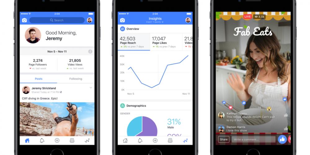 Facebook Launches New Creator Studio Mobile App