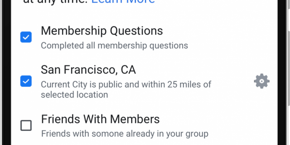 Facebook Adds New Automatic Member Approval Option for Groups