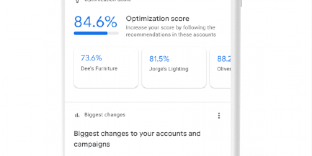 Google Ads app supports manager accounts
