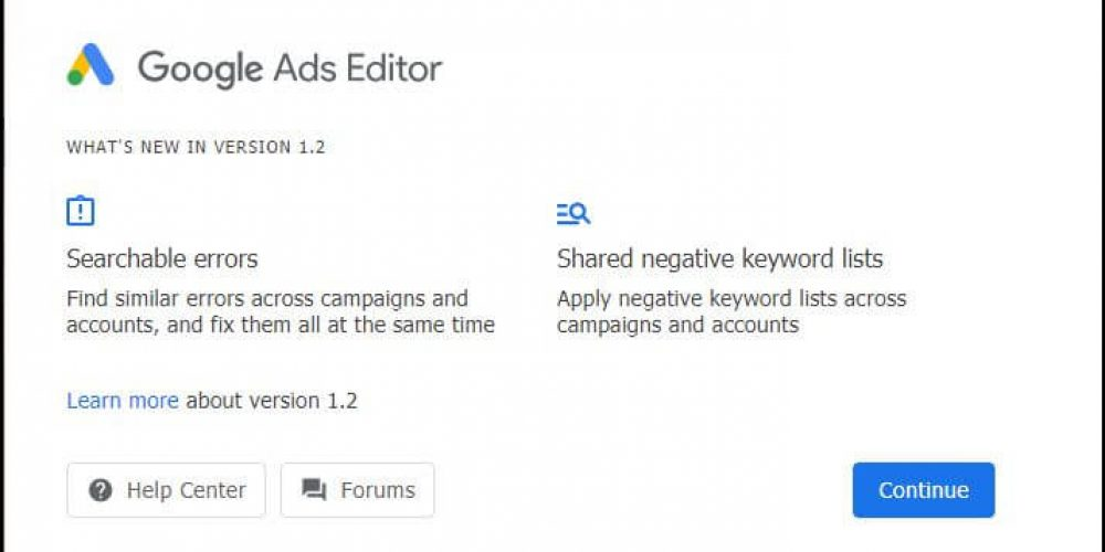 Google Ads Editor update includes support for Discovery campaigns