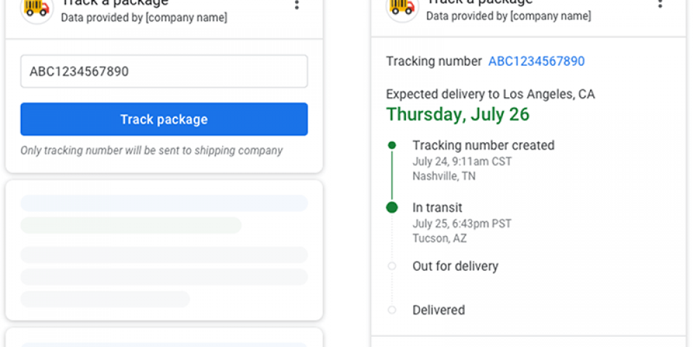 Package tracking on Google's search results page is coming to more carriers