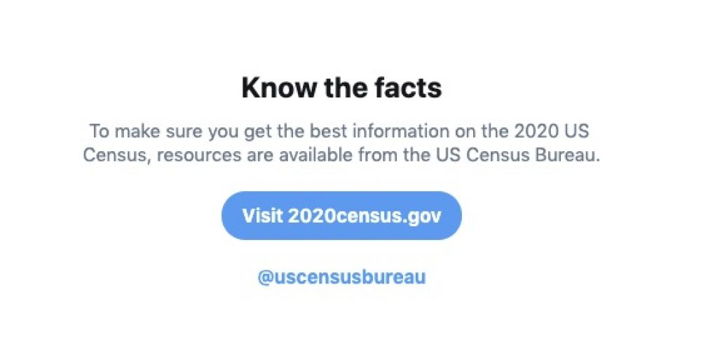 Twitter Outlines Measures to Detect and Remove Misinformation Relating to the 2020 US Census