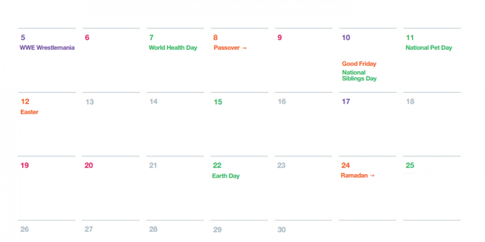 Twitter Outlines Key Dates of Note in April to Assist With Strategic Planning