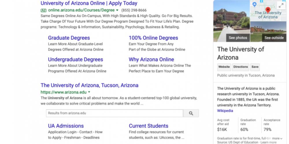 Why the University of Arizona changed its abbreviation for SEO