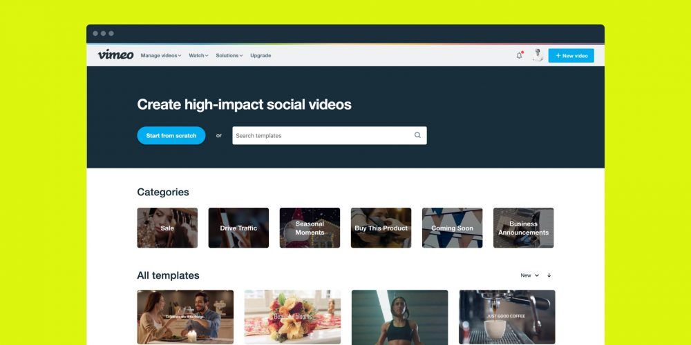 Vimeo Launches 'Vimeo Create' to Help Marketers Create Better Videos for Multiple Platforms