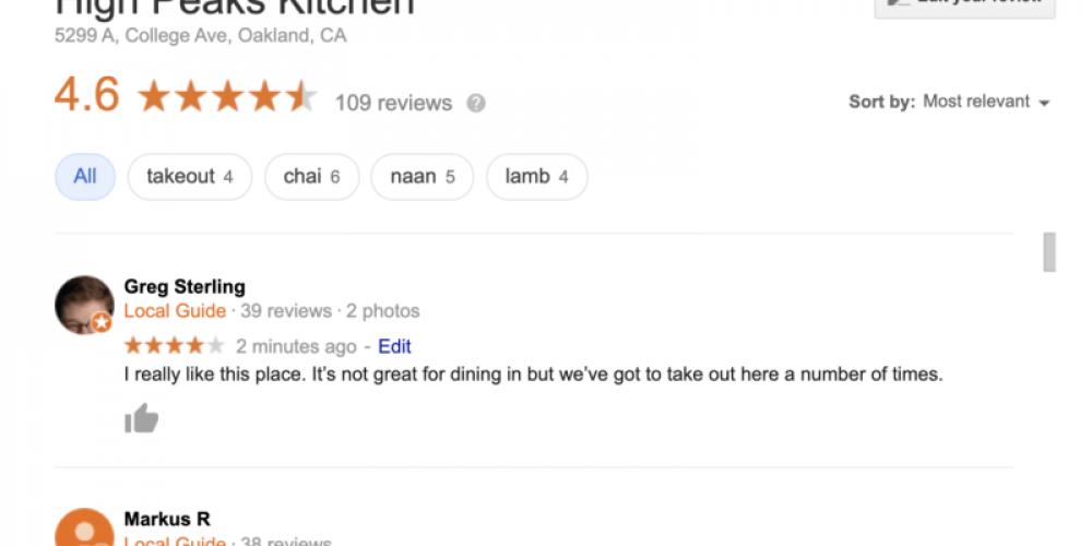 Google reviews coming out of quarantine