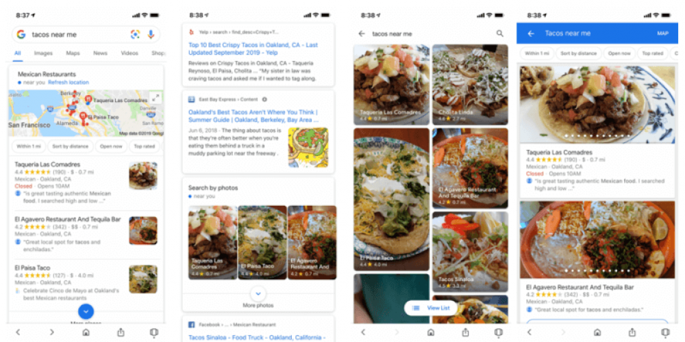 Google showing mobile 'search by photos' option in selected local verticals