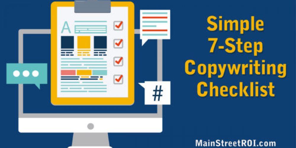Simple 7-Step Copywriting Checklist