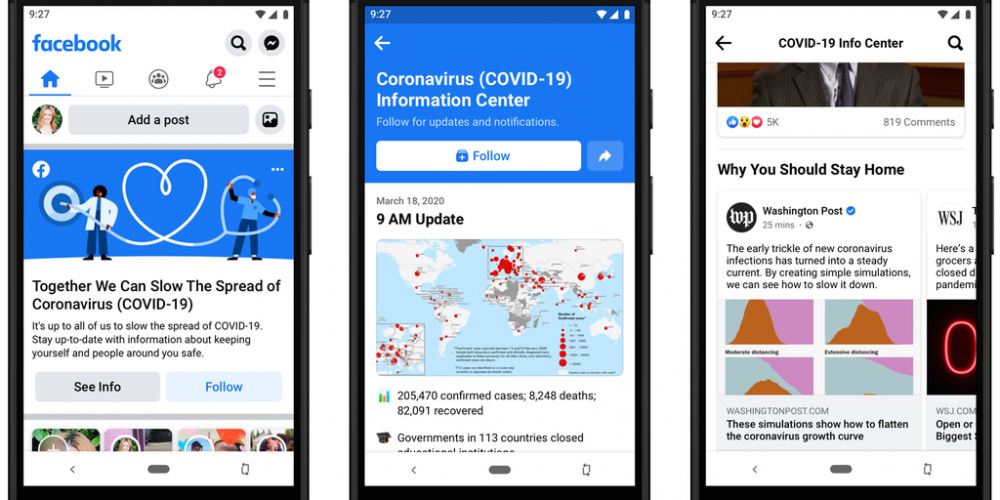 Facebook Adds New COVID-19 Information Panel to the Top of All User News Feeds