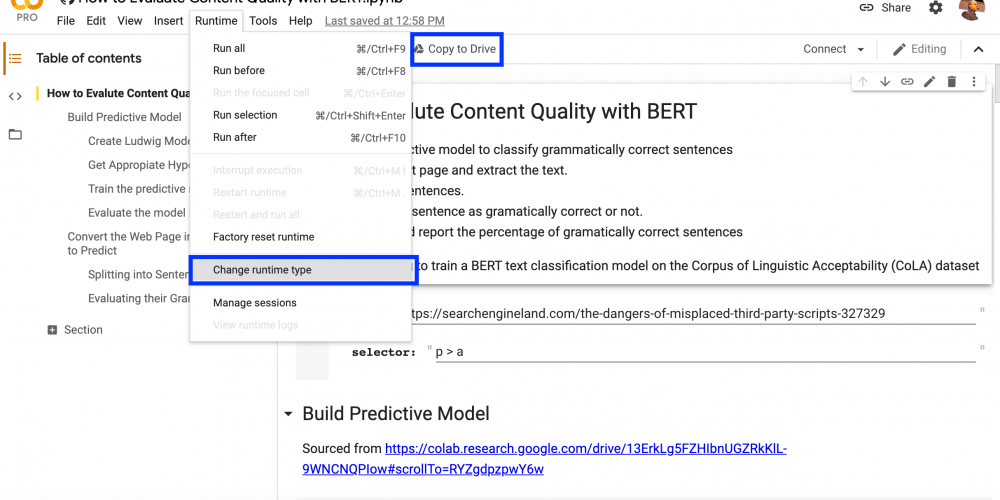 How to evaluate content quality with BERT