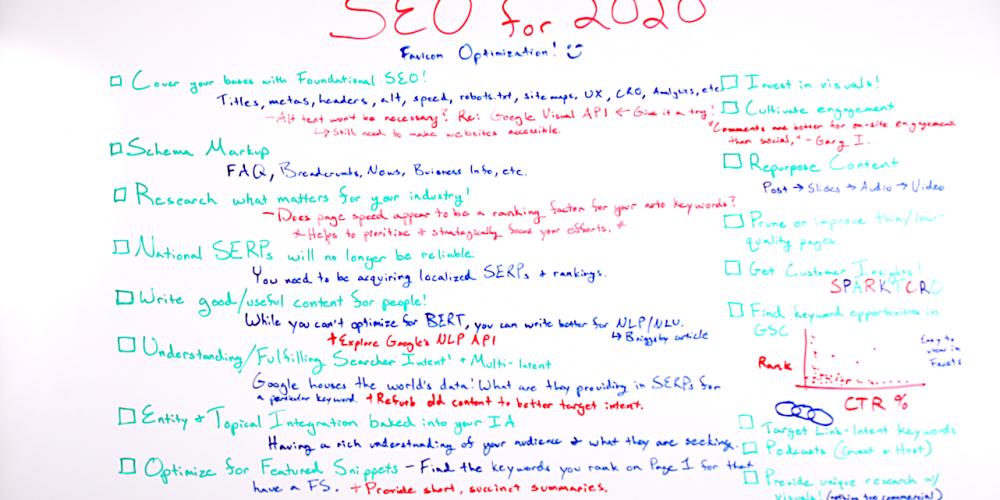 SEO for 2020 – Whiteboard Friday