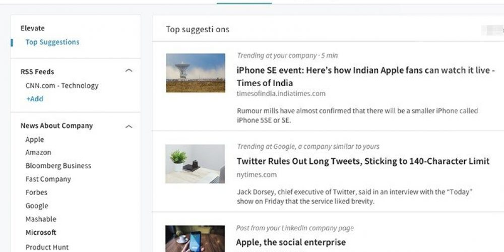LinkedIn Announces Merger of Elevate Functionality with Company Pages