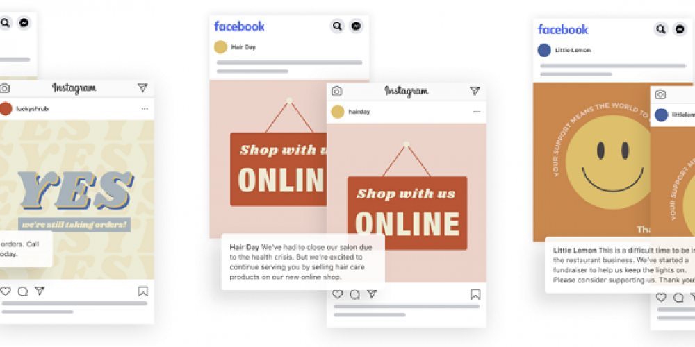 Facebook Provides New Templates to Help Brands Communicate Key Messages During COVID-19 Shutdowns