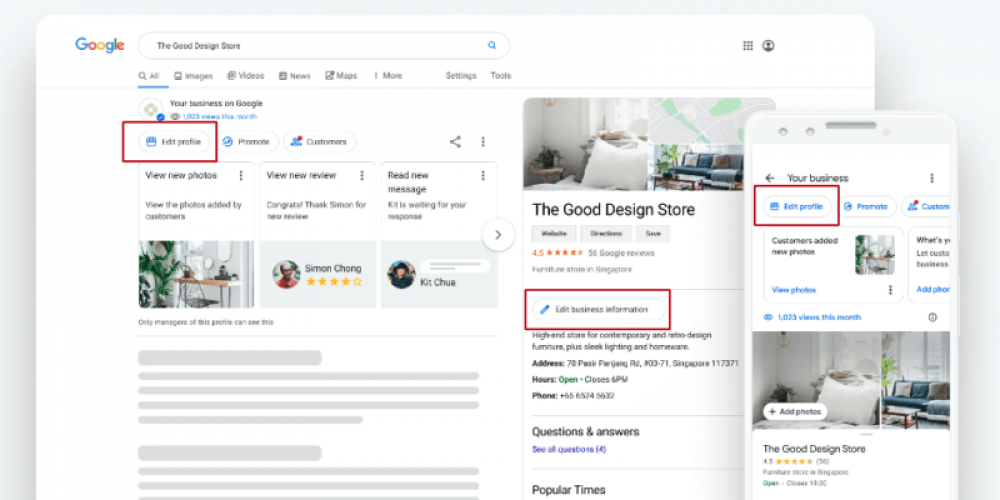 Google now enables GMB profile edits from Search and Maps