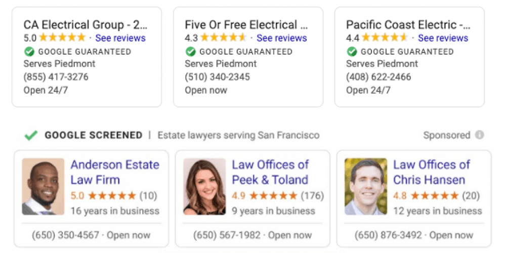 Google rolling out LSAs and  'Google Screened' to select professional services nationally