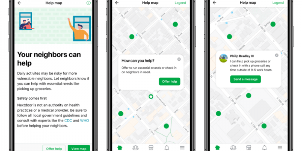 Nextdoor rolls out Groups and Help Map in response to coronavirus outbreak