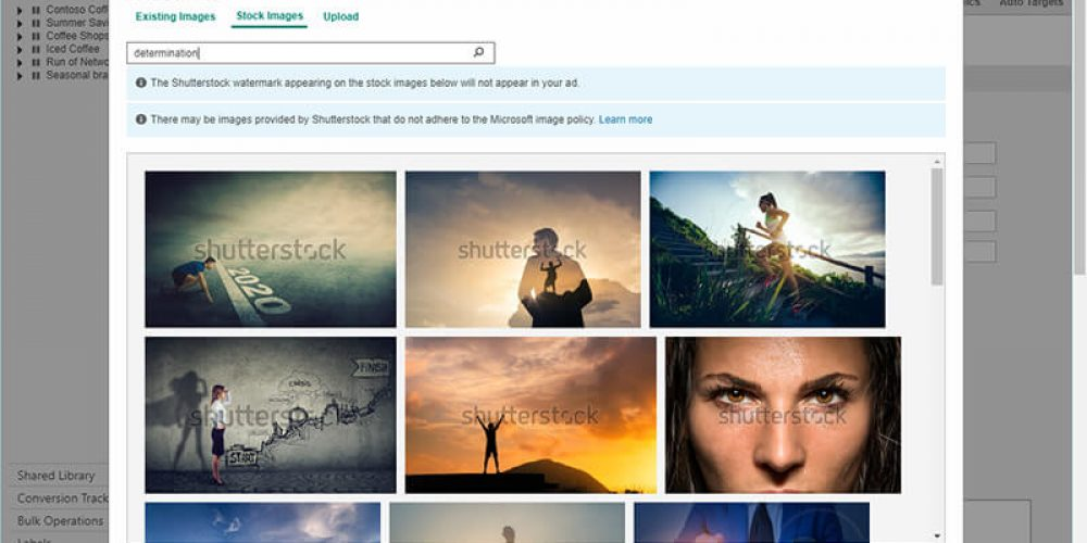 Microsoft Advertising offers free stock images for  Audience ads