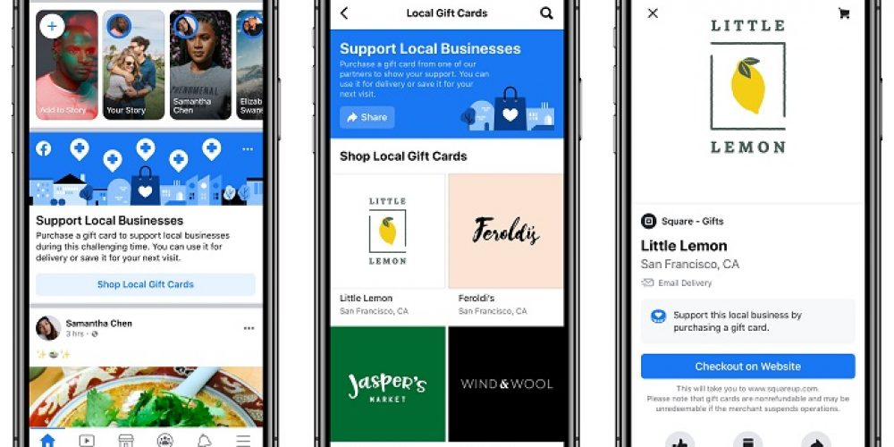 Facebook Adds Gift Card Discovery Tool, Service Impact Listings to Help Businesses Impacted by COVID-19