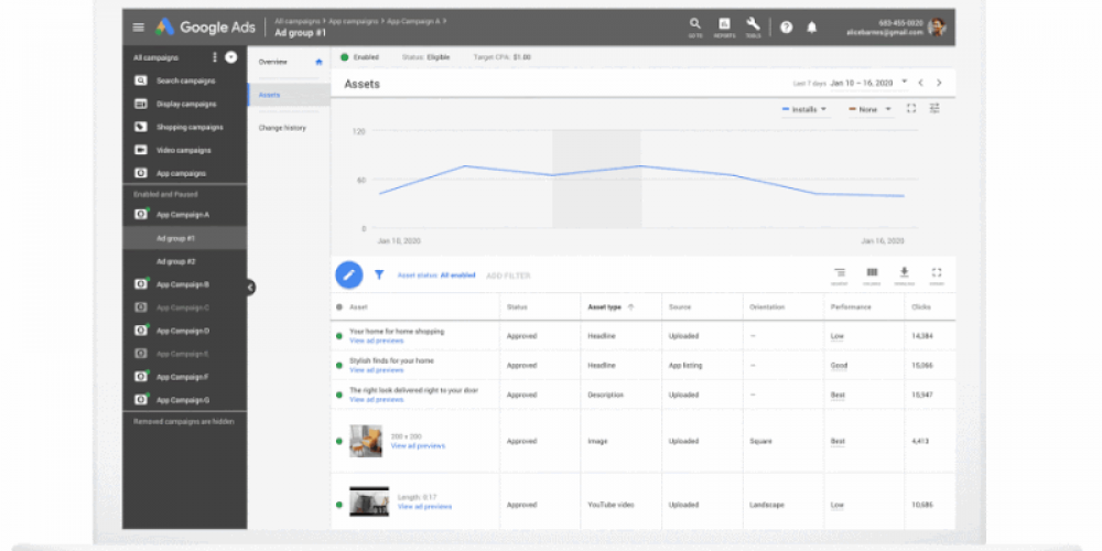 Google intros open testing ads, new asset reporting and more for App campaigns