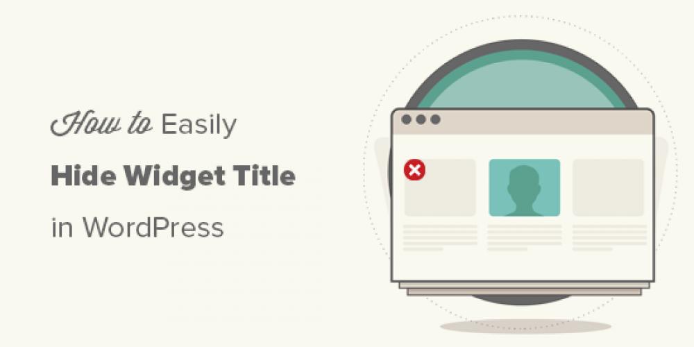 How to Easily Hide Widget Title in WordPress