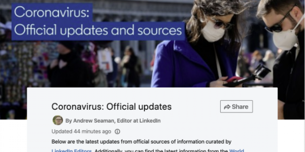 LinkedIn Shares Tips on What to Post During COVID-19 Lockdowns